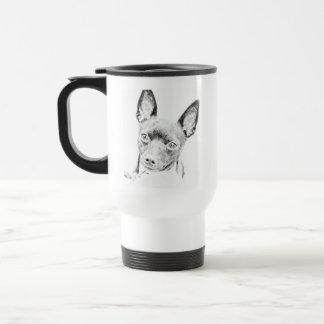 Fox terrier del juguete taza de viaje de acero inoxidable