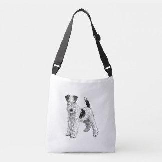 Fox Terrier Design Bag, Double Sided Crossbody Bag