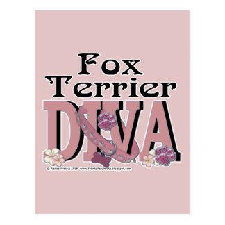 Fox Terrier DIVA Postcard