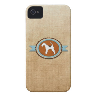 Fox Terrier Dog Emblem Badge Case-Mate iPhone 4 Case