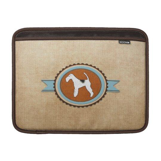 Fox Terrier Dog Emblem Badge MacBook Sleeve