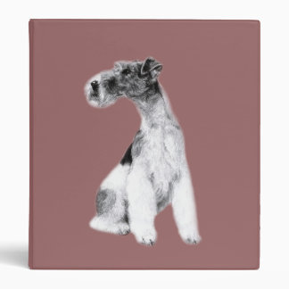 Fox Terrier Drawing 3 Ring Binder