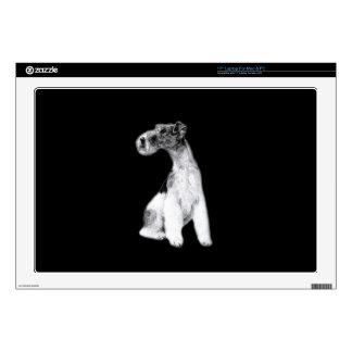 "Fox Terrier Drawing 17"" Laptop Decals"