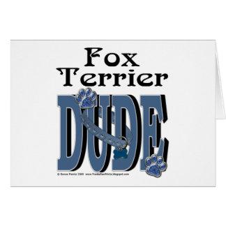 Fox Terrier Dude Greeting Card