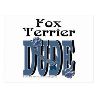 Fox Terrier Dude Postcard