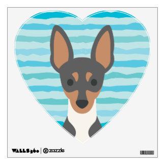 Fox Terrier Heart Wall Decal