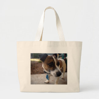 Fox_Terrier,_ Large Tote Bag