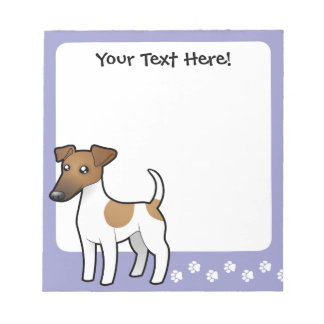 Fox terrier liso del dibujo animado bloc