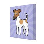 Fox terrier liso del dibujo animado lienzo envuelto para galerías