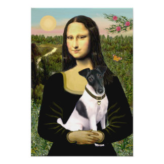 Fox terrier liso - Mona Lisa Póster