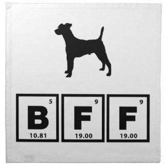 Fox terrier liso servilletas imprimidas
