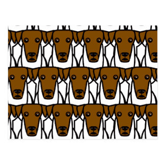Fox terrier lisos tarjeta postal