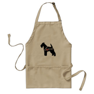 Fox Terrier Love Adult Apron