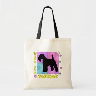 Fox terrier maravilloso del alambre bolsa tela barata