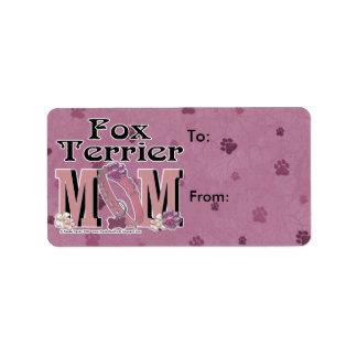 Fox Terrier MOM Address Label