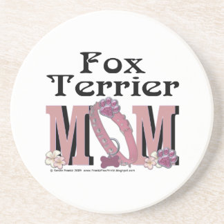 Fox Terrier MOM Drink Coasters