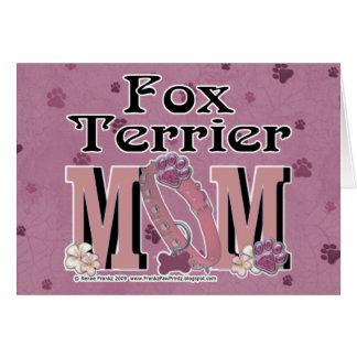 Fox Terrier MOM Greeting Card