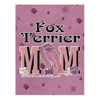 Fox Terrier MOM Postcard