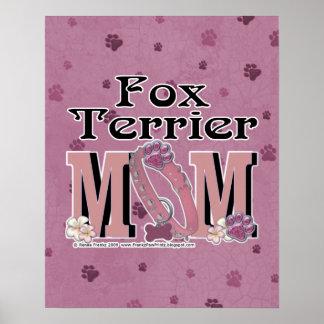 Fox Terrier MOM Poster