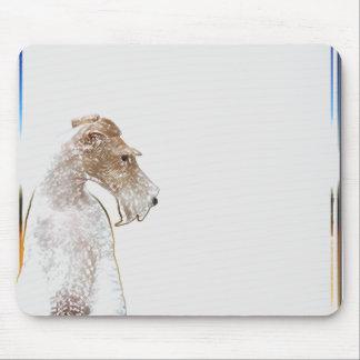 Fox terrier Mousepad del alambre