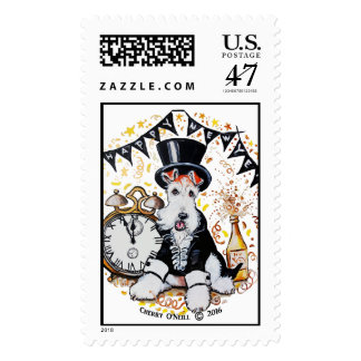Fox Terrier New Year Stamp