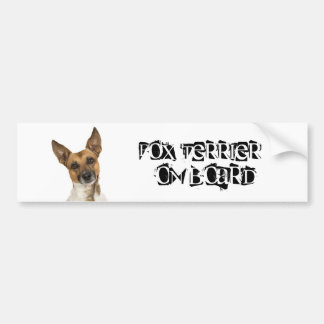 Fox Terrier on Board Bumper Sticker