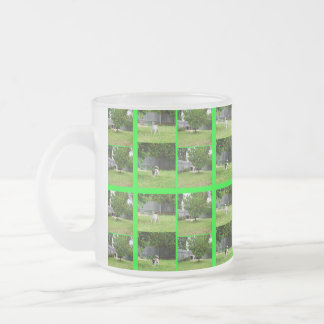 Fox Terrier Photo Collage Frosted Glass Mug