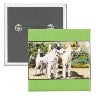 Fox terrier pin cuadrada 5 cm