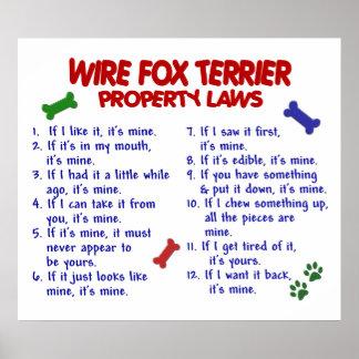 FOX TERRIER PL2 DEL ALAMBRE PÓSTER