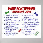 FOX TERRIER PL2 DEL ALAMBRE POSTERS