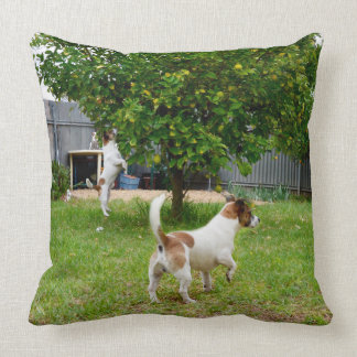 Fox Terrier Play Time Big Throw Cushion