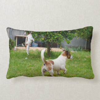 Fox Terrier Play Time Lumbar Cushion