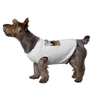 Fox_Terrier_Play_Time White Ribbed Pet Coat Shirt