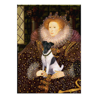 Fox terrier - reina Elizabeth Póster