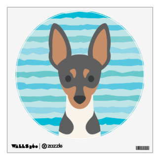 Fox Terrier Round Wall Decal