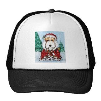 Fox terrier Santa del alambre Gorras De Camionero