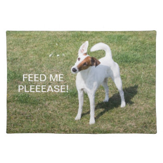 Fox Terrier Smooth dog beautiful photo placemat Cloth Placemat