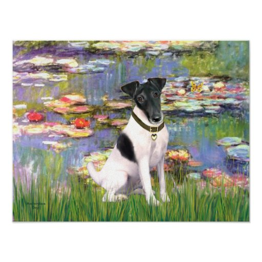 Fox Terrier Smooth - Lilies 2 Print