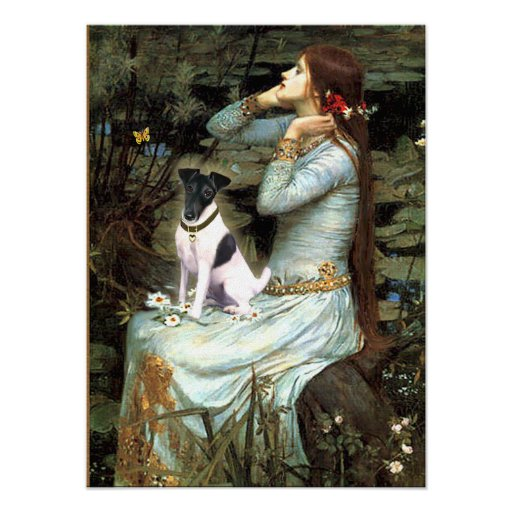 Fox Terrier Smooth - Ophelia Seated Print