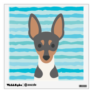 Fox Terrier Square Wall Decal