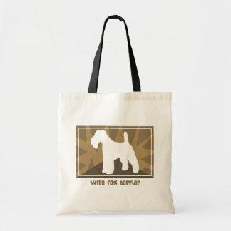 Fox terrier terroso del alambre bolsas lienzo