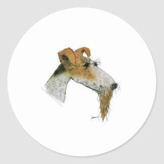 Fox Terrier, tony fernandes Classic Round Sticker