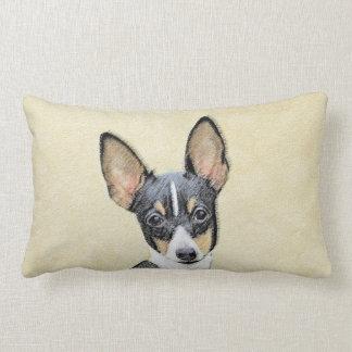 Fox Terrier (Toy) Lumbar Pillow