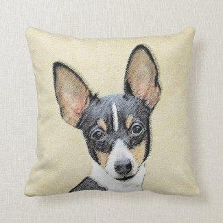 Fox Terrier (Toy) Throw Pillow