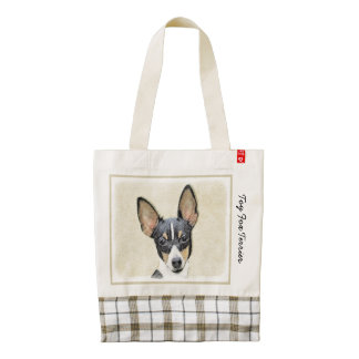 Fox Terrier (Toy) Zazzle HEART Tote Bag