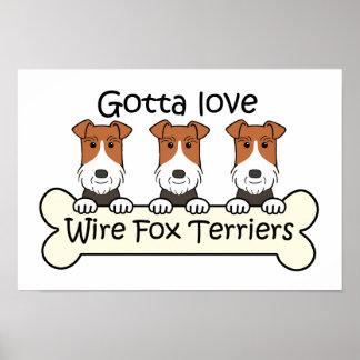 Fox terrier trifilares póster
