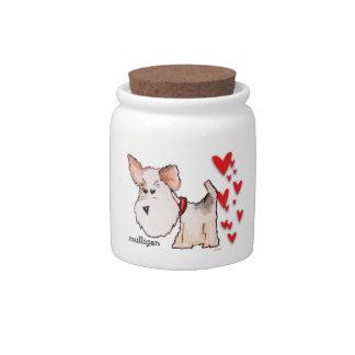 Fox Terrier Watercolor Candy Jars