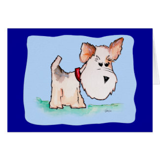 Fox Terrier Watercolor (Customizable) Cards
