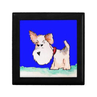 Fox Terrier Watercolor Keepsake Box