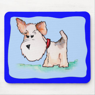 Fox Terrier Watercolor Mousepads